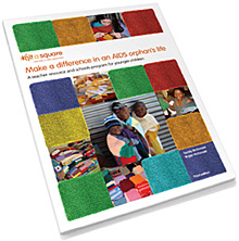 Knit a square teacher resource cover